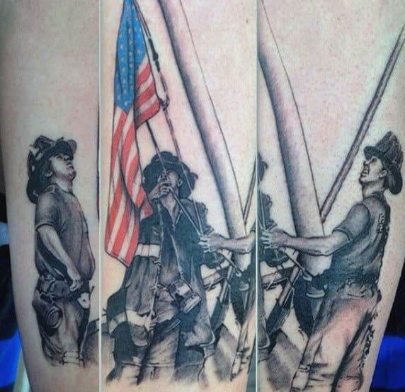 911 Firefighting Tattoo Designs For Guys
