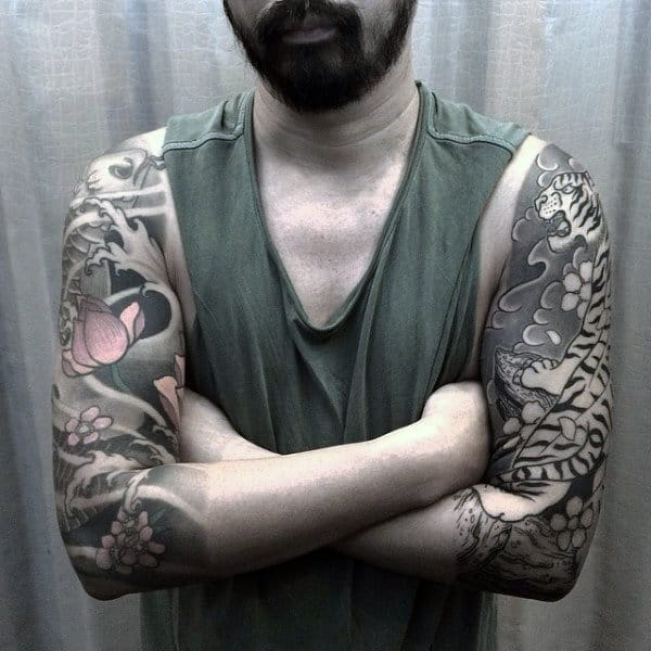A Class Japanese Sleeve Tattoo For Men