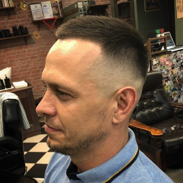 A Crew Cut For Men With Slightly Longer Hair On Top. It Is An Upgraded Version Of Buzz Cut