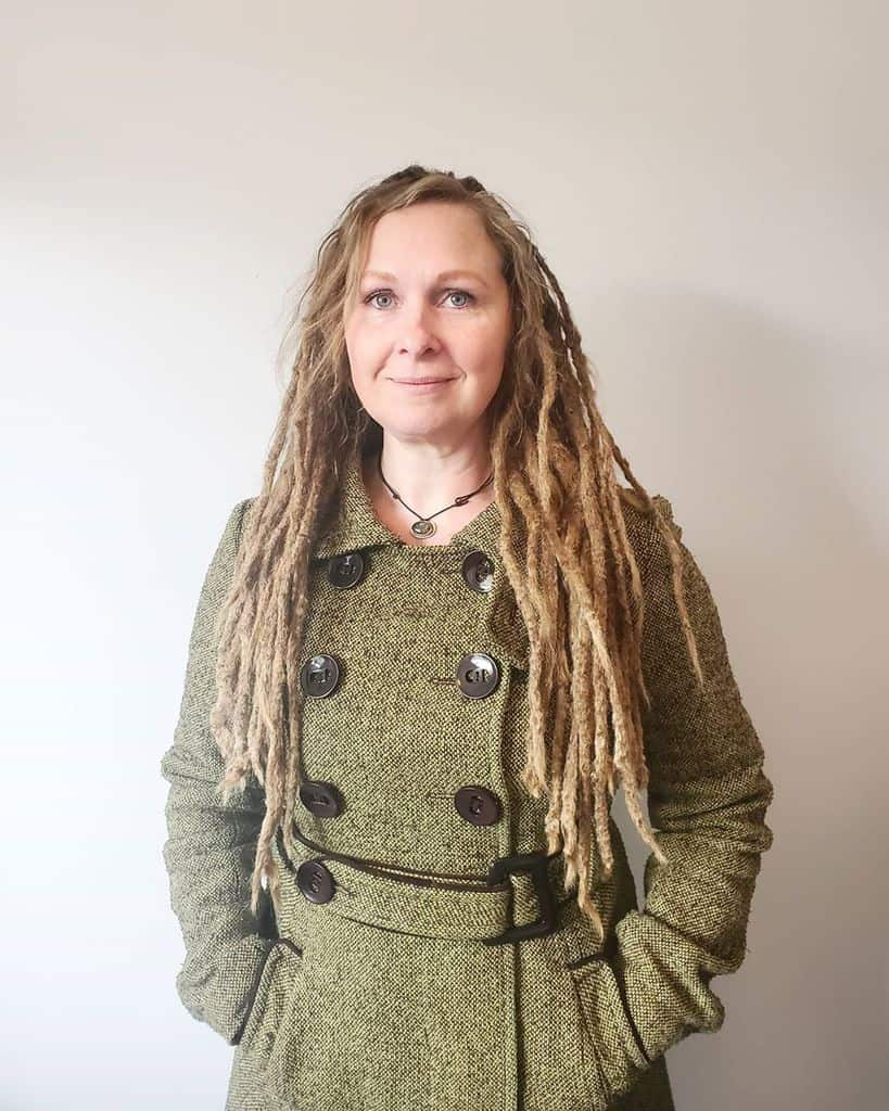 A Dreadlock Hairstyle Featuring Dreaded Loose Tips. A Typical Dread Style For Whites