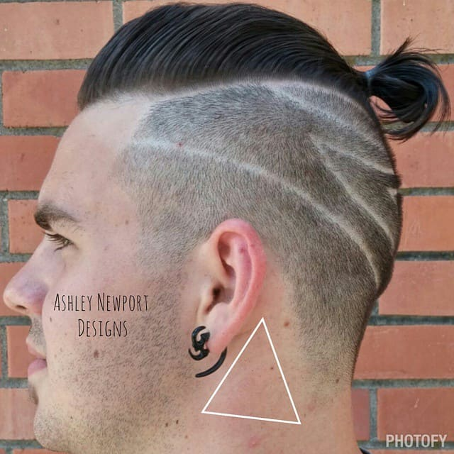 A Man Ban Undercut Featuring Pomp And Designs