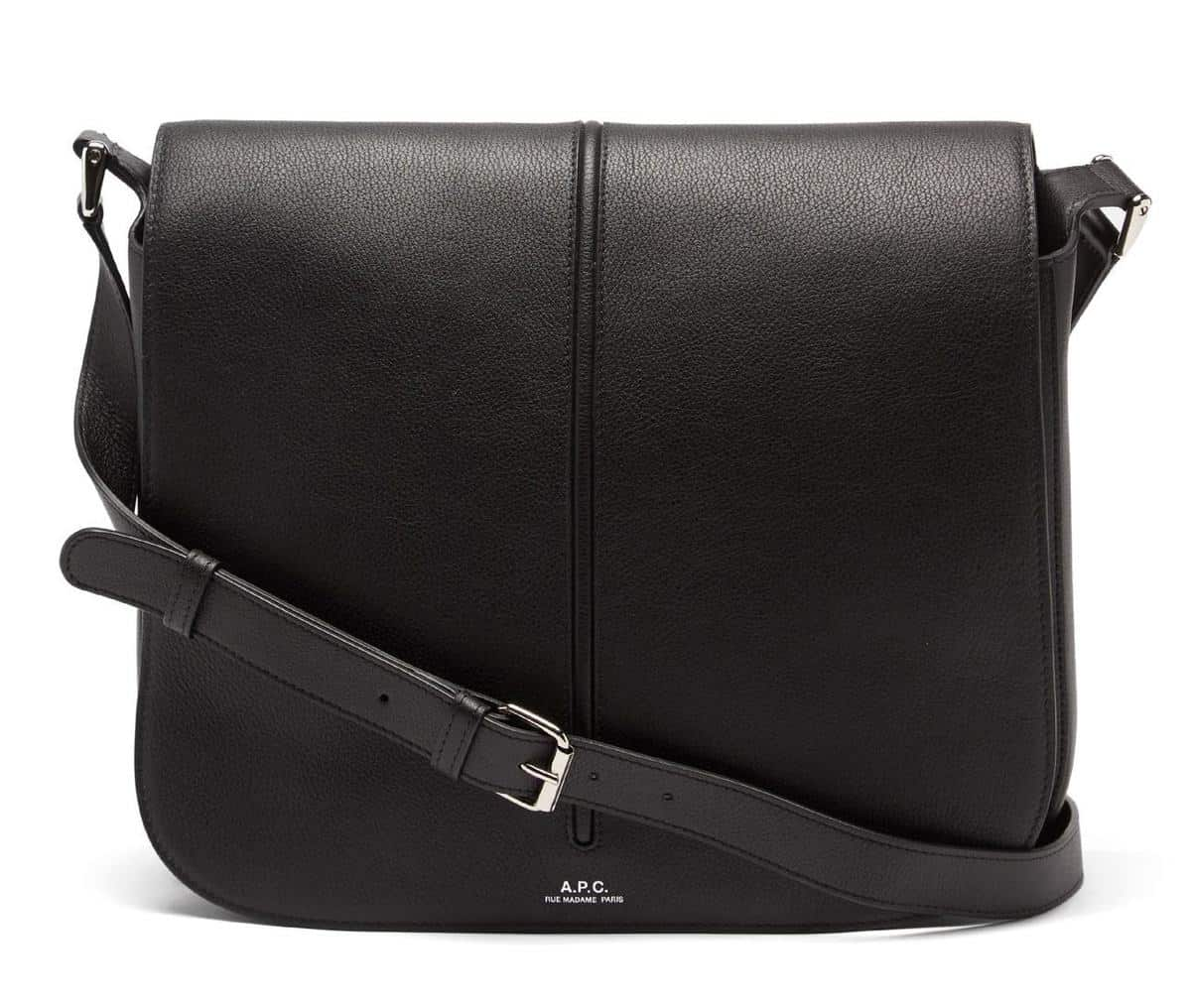 A.P.C. Betty Grained-Leather Crossbody Bag