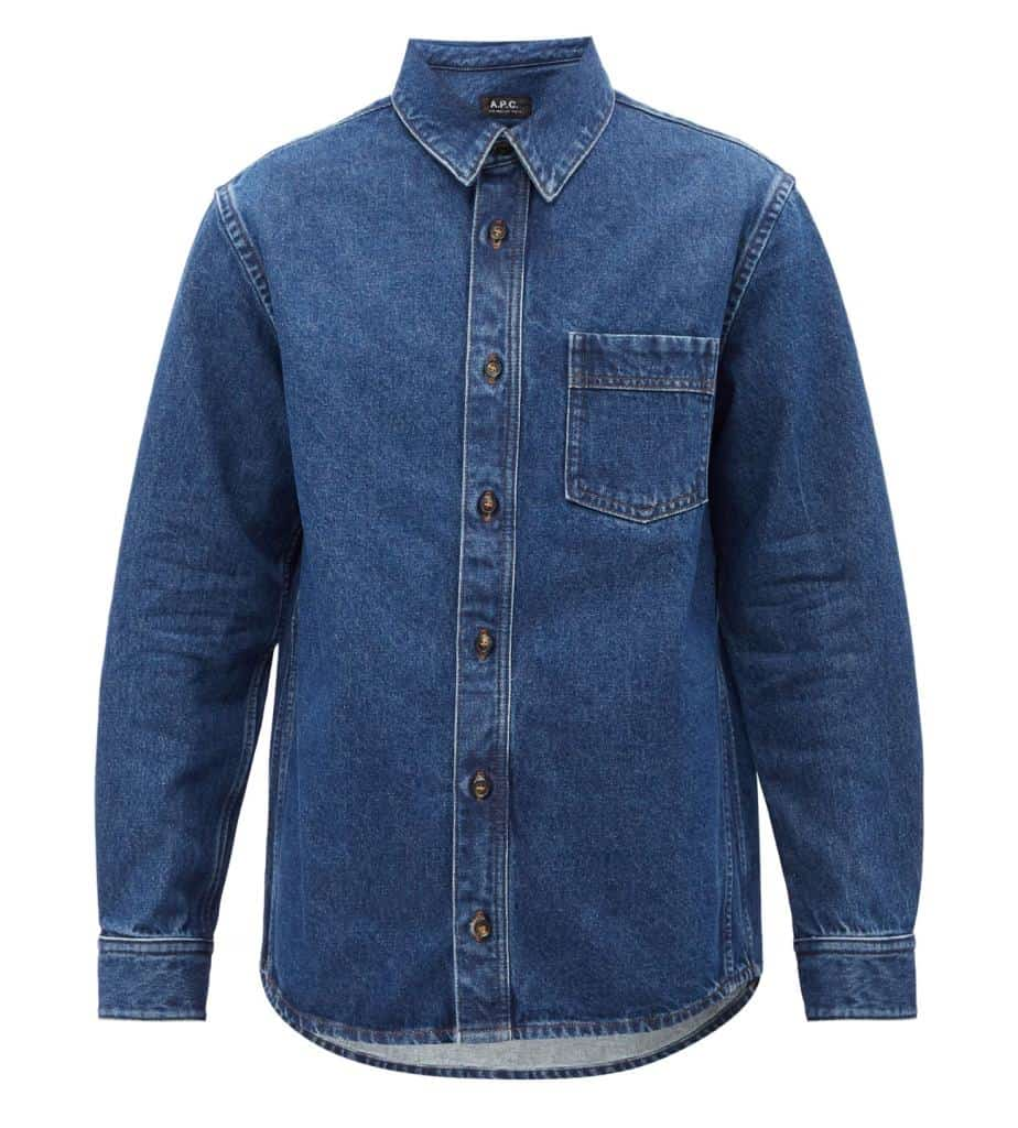 A.P.C. Cyril Chest Pocket Denim Shirt