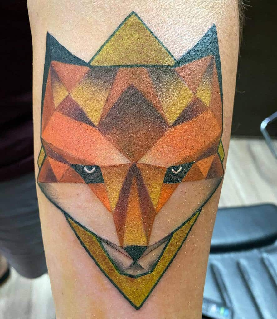 Abstract Geometric Fox Tattoo chicken_and_chaffles