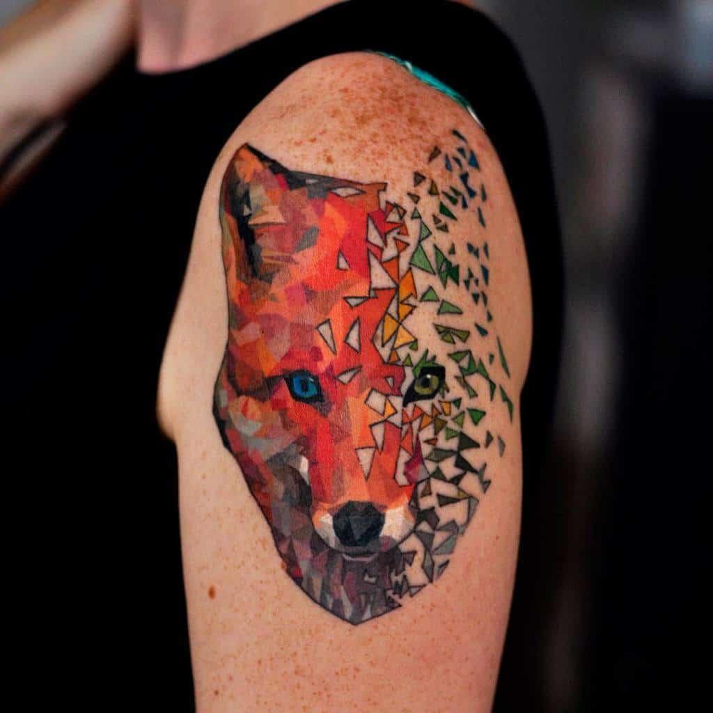 Abstract Geometric Fox Tattoo smarthumbs
