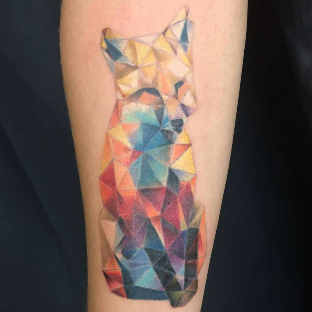 Abstract Geometric Fox Tattoo tattoosbypineapple