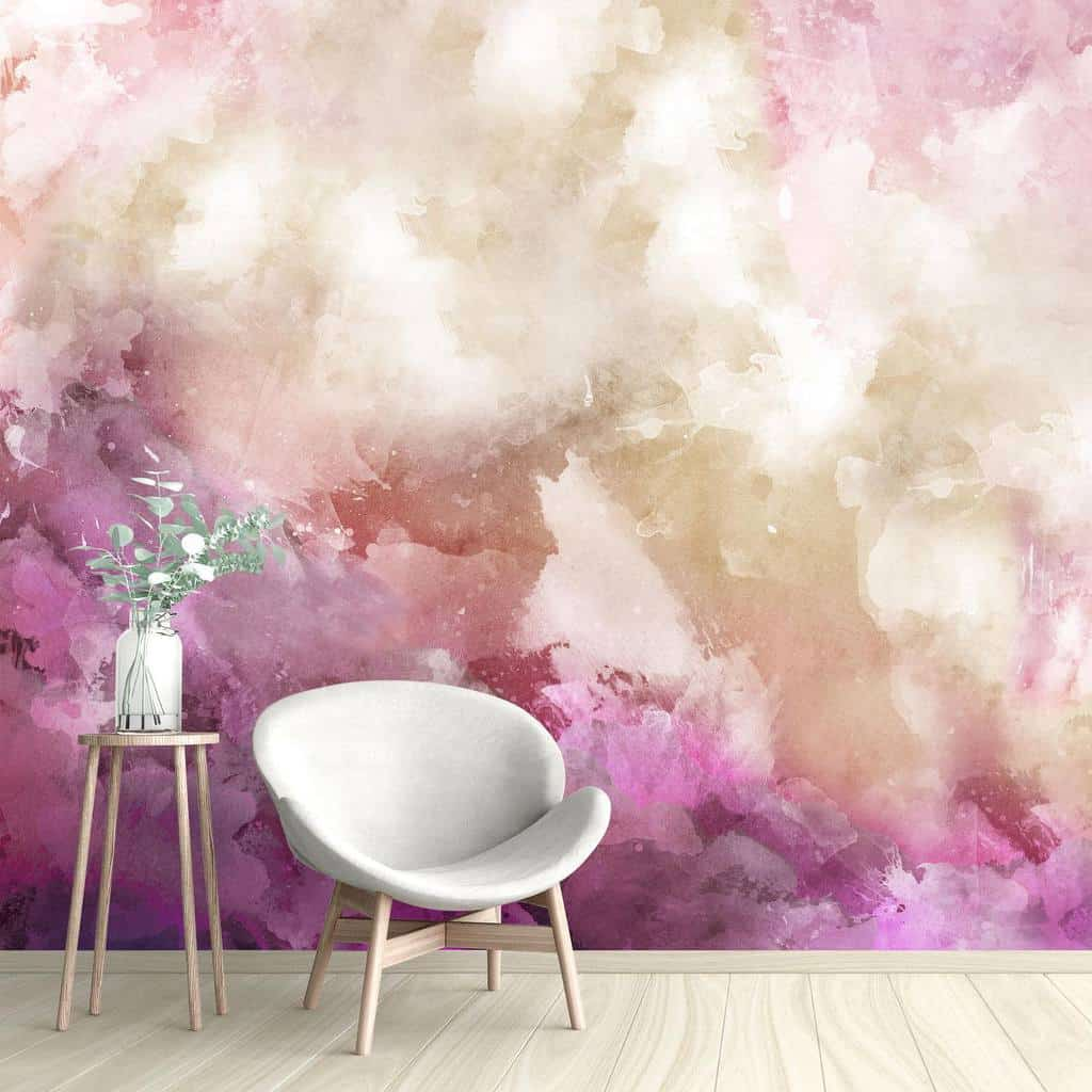 Abstract Wall Mural Ideas -wallpapered