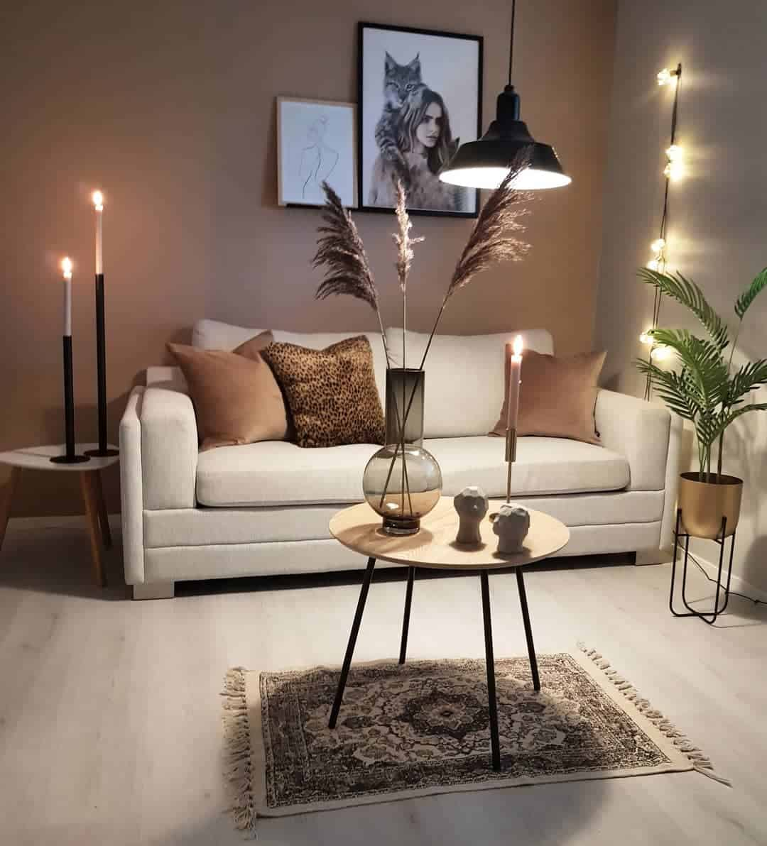 Accent Wall Brown Living Room Ideas -kristingronas