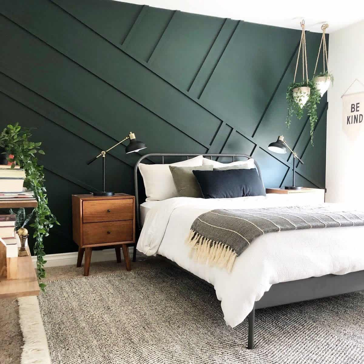 Accent Wall Green Bedroom Ideas -margotbauer.realtor