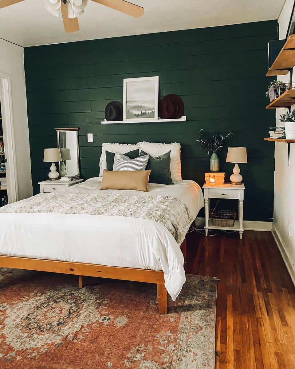 Accent Wall Green Bedroom Ideas -uniquelytaylormade