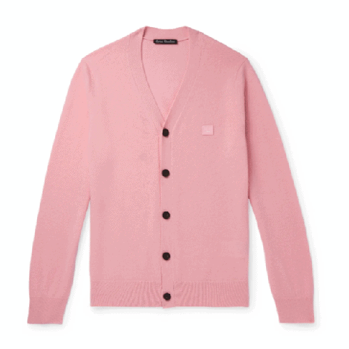 Acne-Studios-Keve-Logo-Appliqued-Wool-Cardigan