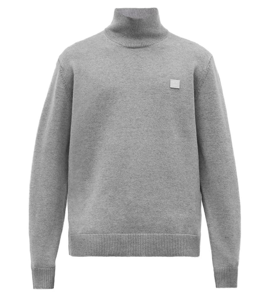 Acne Studios Kurtle Face-Applique Wool Sweater