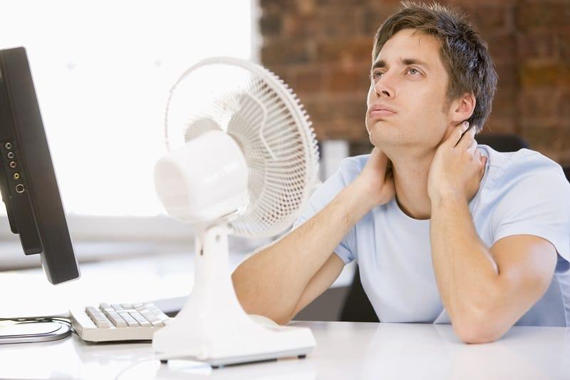 Add-a-small-or-portable-fan-to-your-office-desk-alongside-an-emergency-kit-Beat-Scorching-Summer-Heat