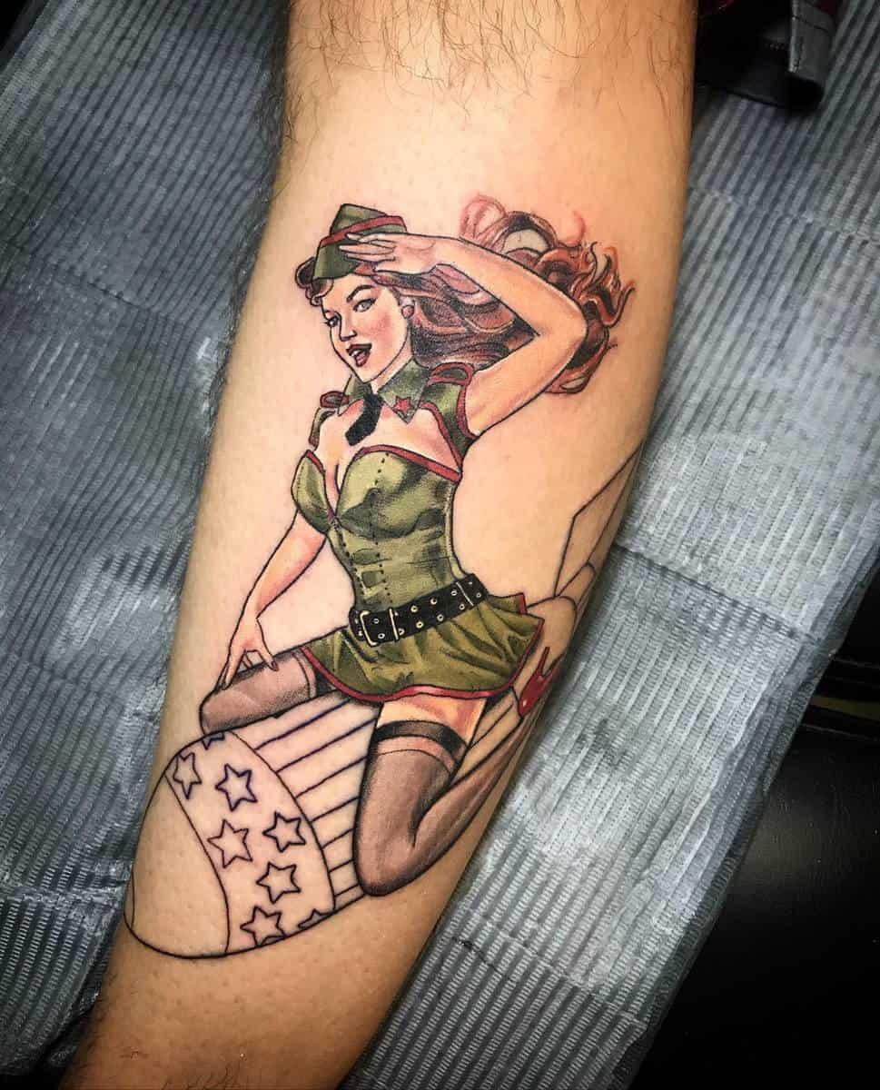 Air Force Pin Up Girl Tattoo -christinia_