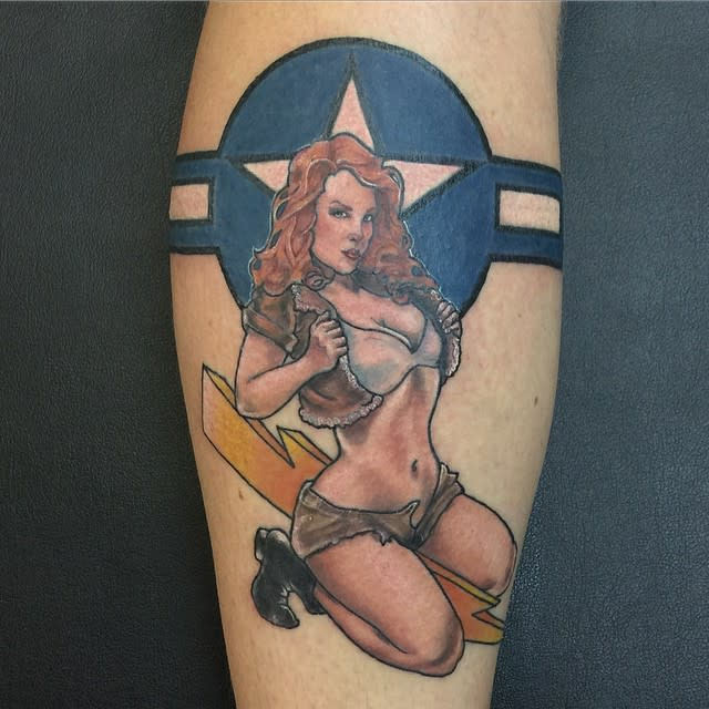 Air Force Pin Up Girl Tattoo -jakegilpo.ink