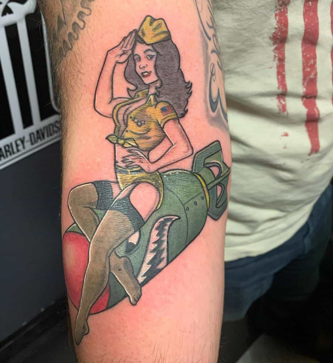 Air Force Pin Up Girl Tattoo -mchumpen