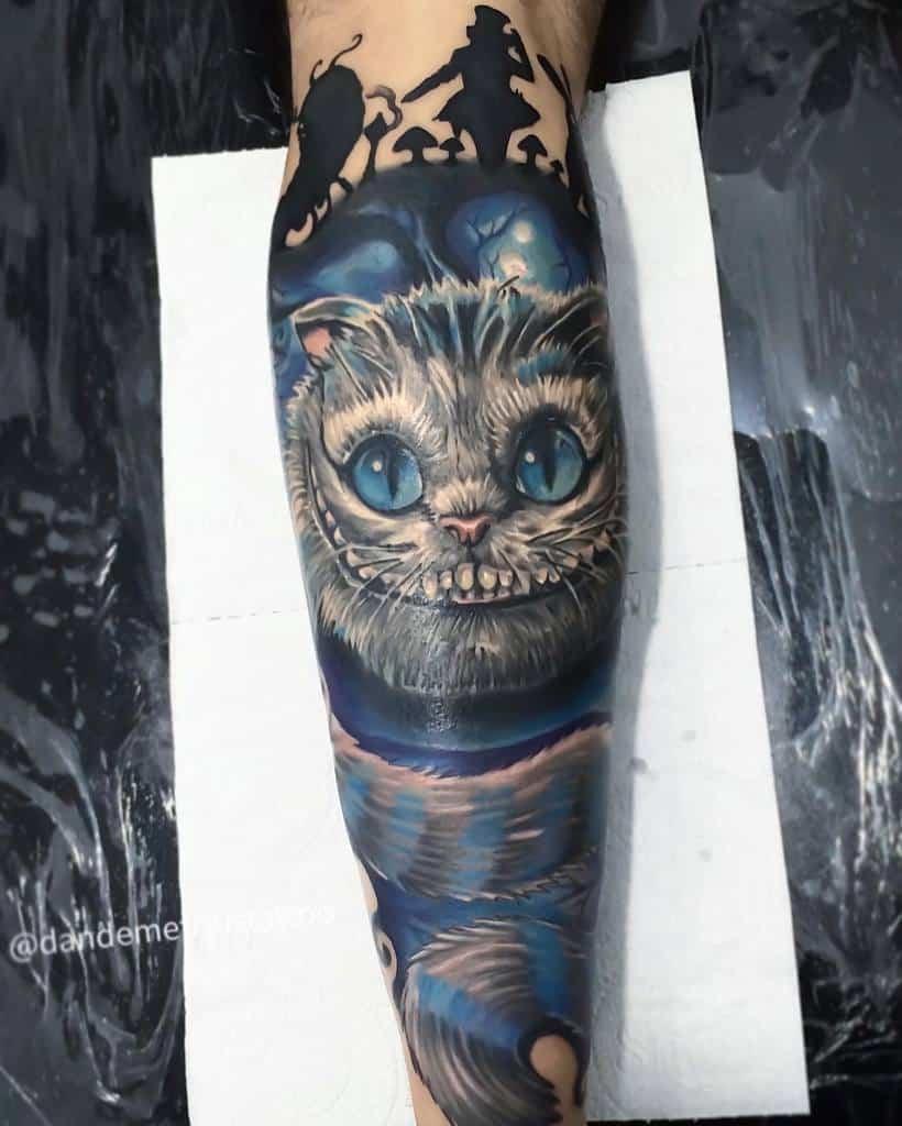 Alice in Wonderland Cheshire Cat Tattoo dandemetriustattoo