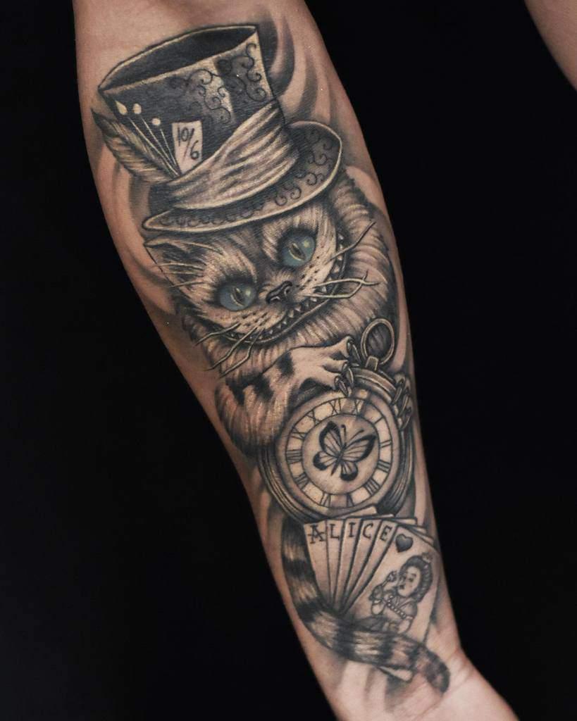 Alice in Wonderland Cheshire Cat Tattoo h2pierre