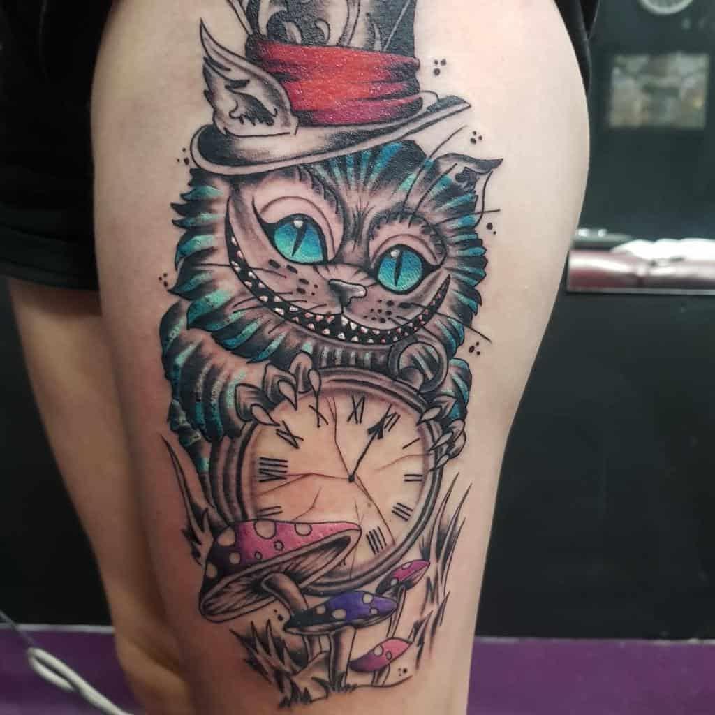 Alice in Wonderland Cheshire Cat Tattoo justinundertheguntattoo