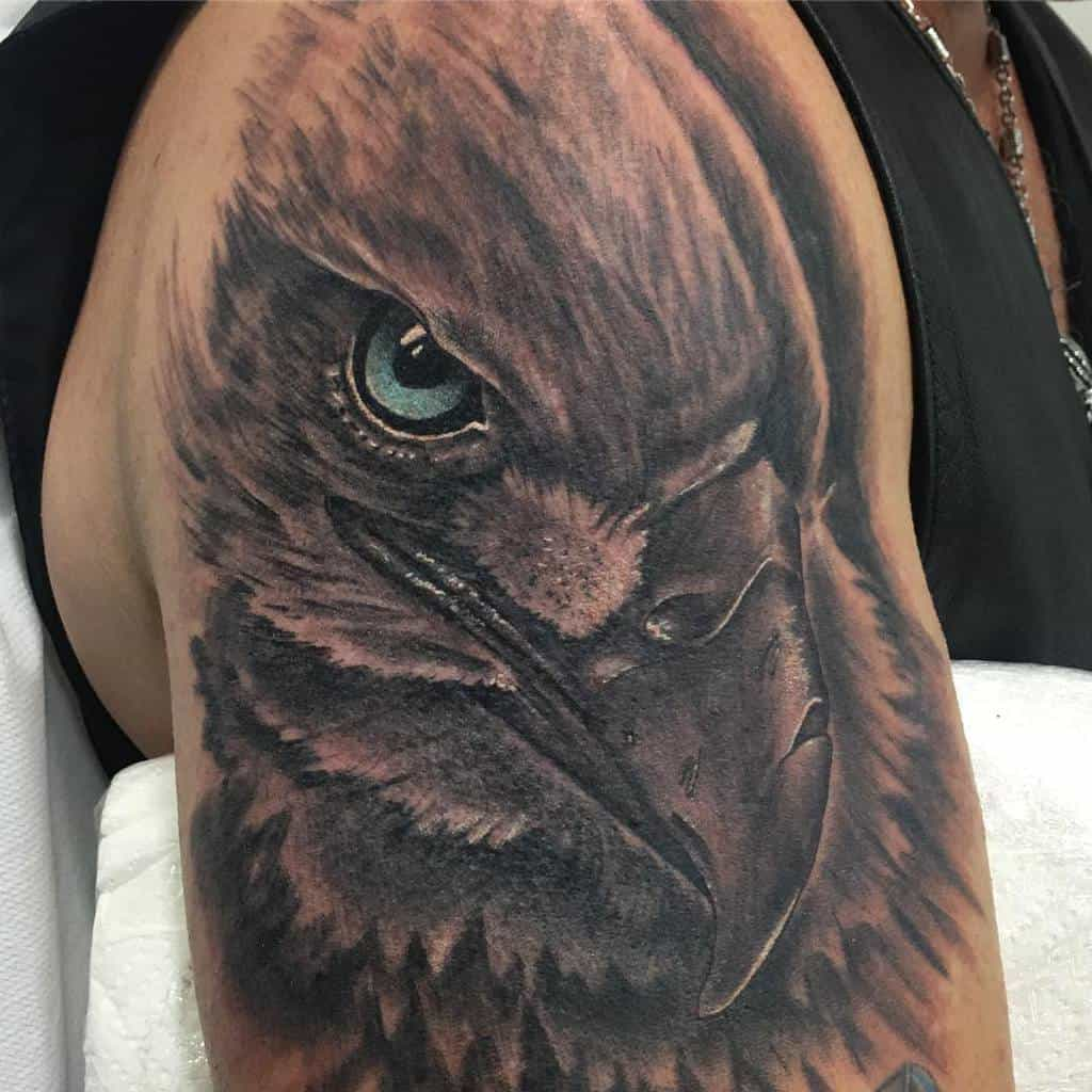 American Eagle Head Tattoo alexhxctattoo