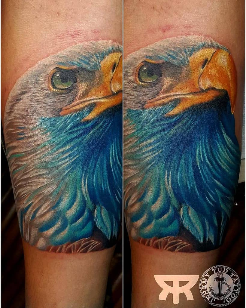 American Eagle Head Tattoo jeremytudtattoos