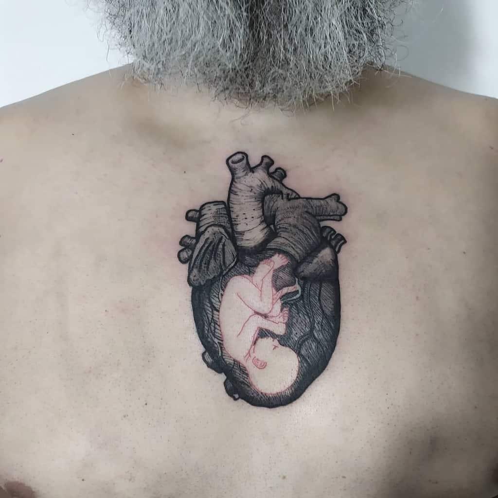 Anatomical Heart Tattoo Clebervalhala