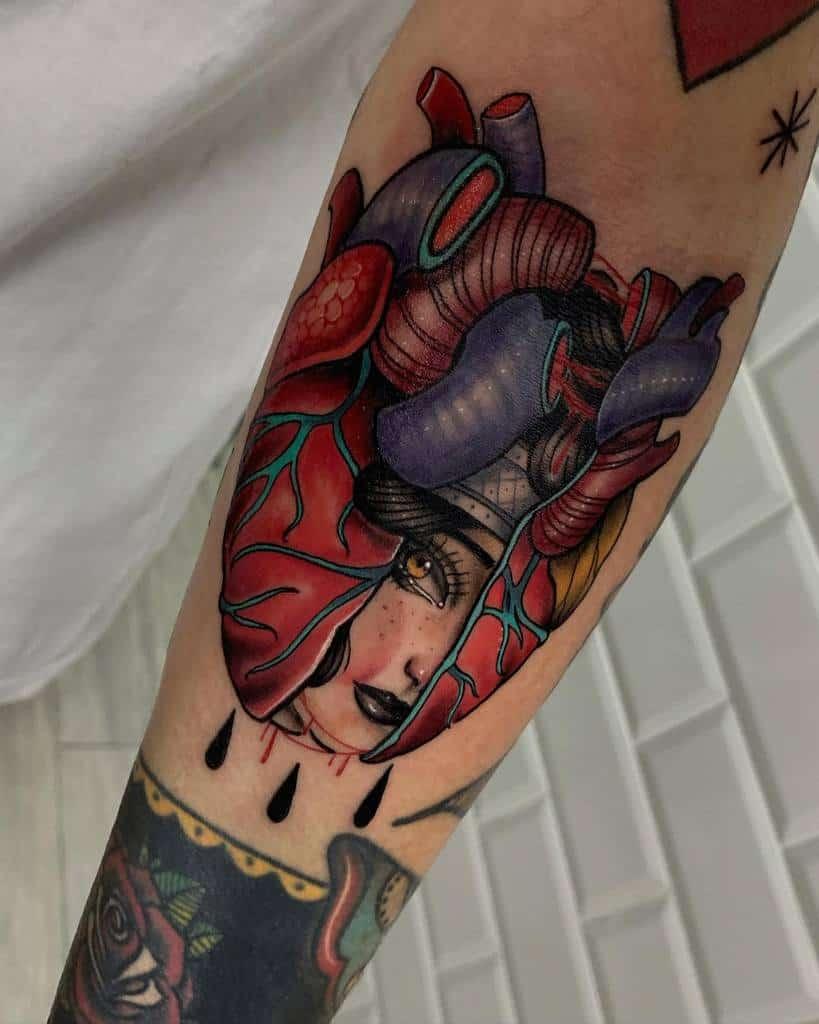Anatomical Heart Tattoo Rubenslimertattoo