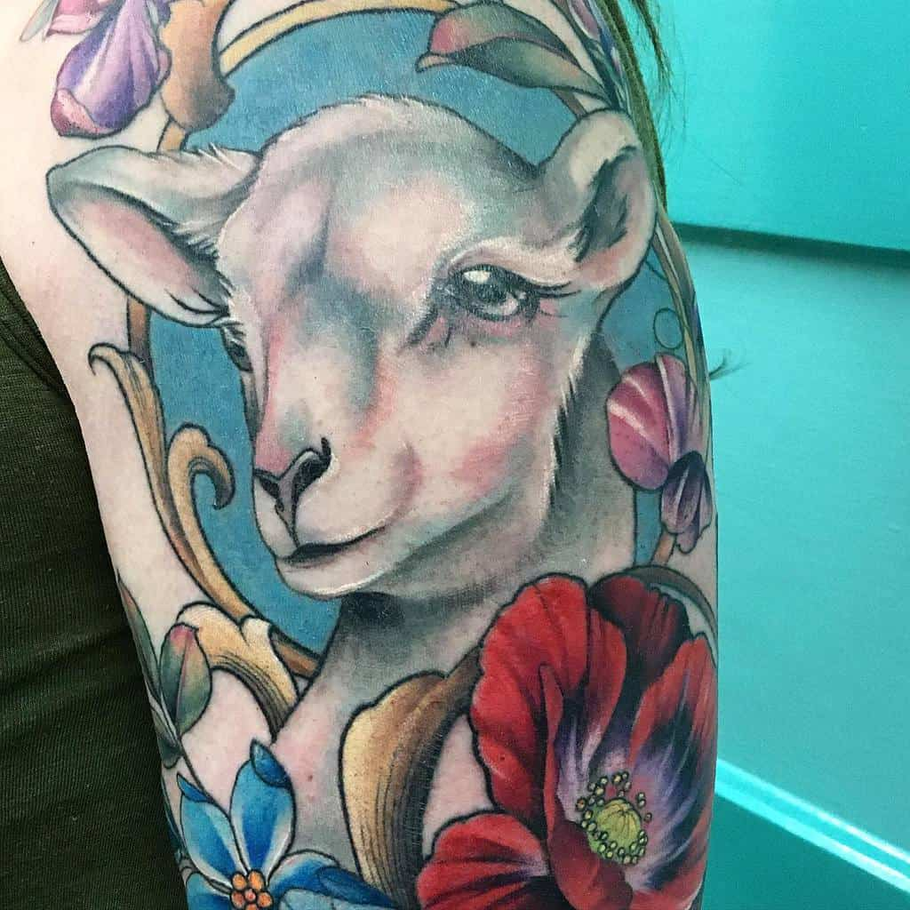 Animal Art Nouveau Tattoo Kyliegibsontattoos 2