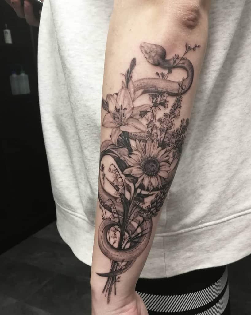 Animal Themed Lily Tattoo Katbjorky