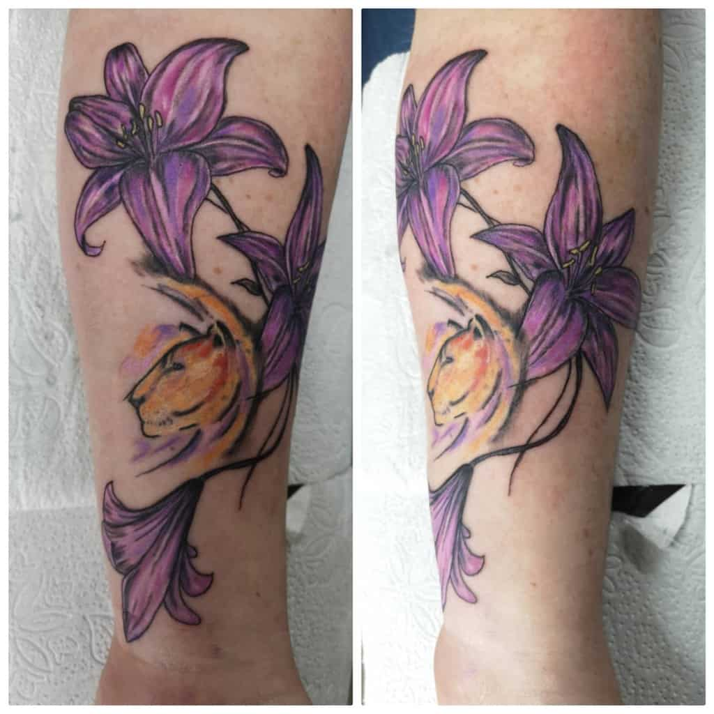 Animal Themed Lily Tattoo Magictattoopozega