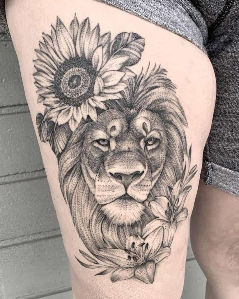 Animal Themed Lily Tattoo Tattoosbynicki