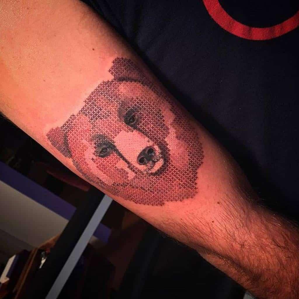 Animal Themed Cross Stitch Tattoo Lamoglietatuata 2