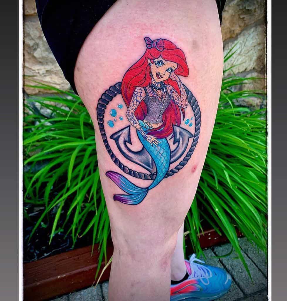 Ariel Little Mermaid Tattoo Tattoosbydoug