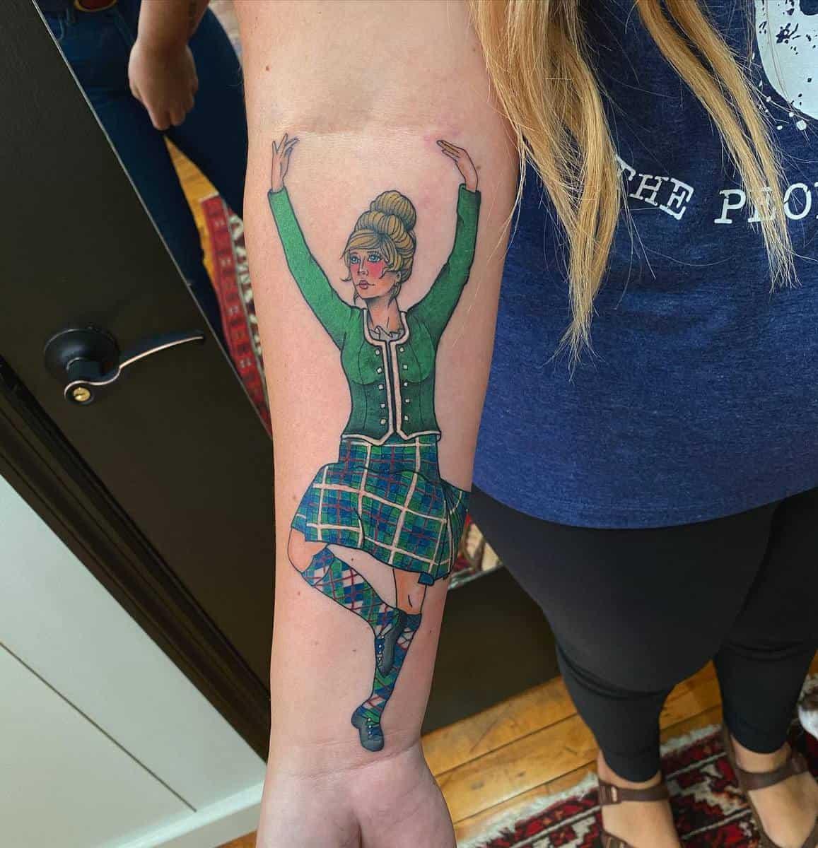 Arm Pin Up Girl Tattoo -tattoosbysky