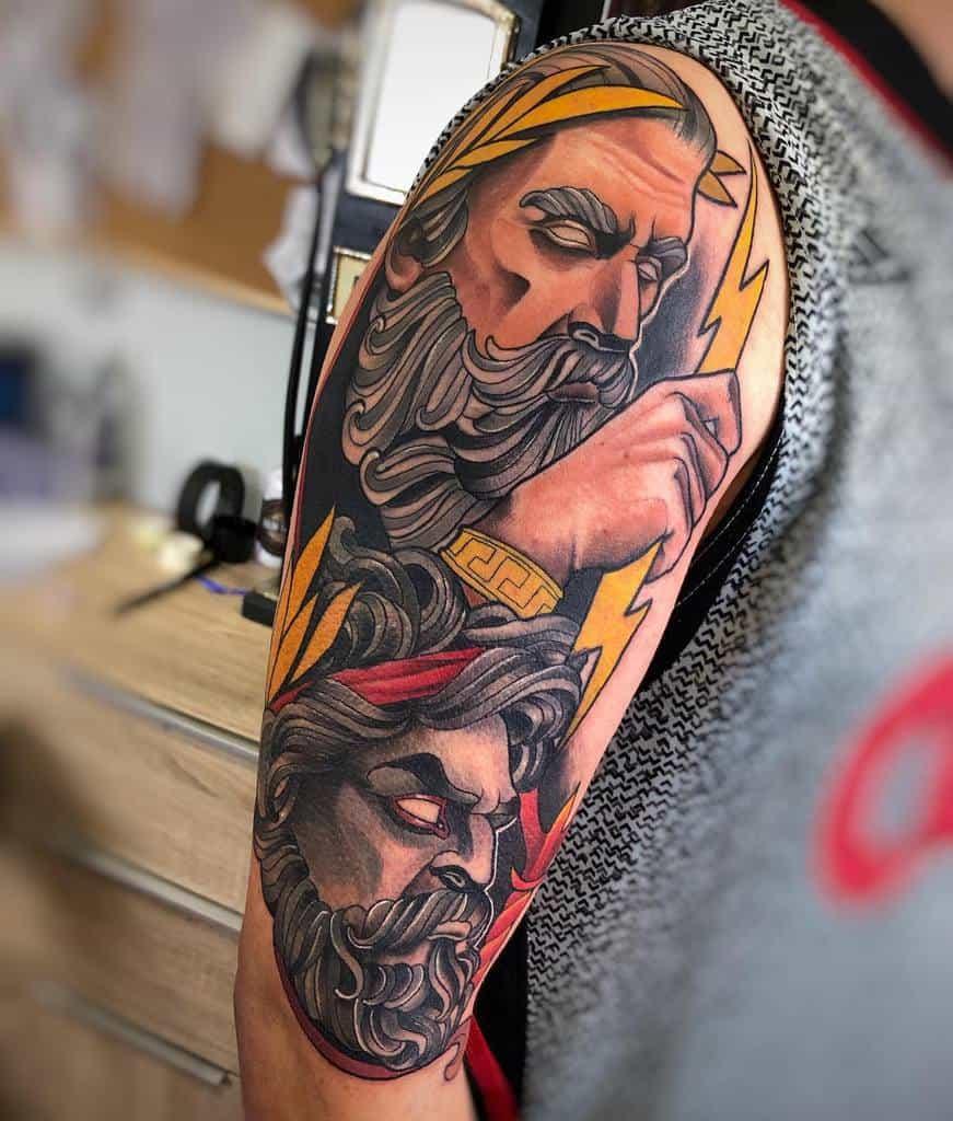 Art Nouveau Arm Sleeve Tattoo Aleco Ink