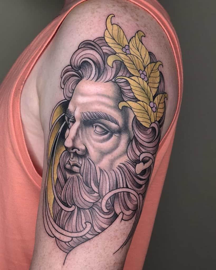 Art Nouveau Arm Sleeve Tattoo Ole Kroeger Tattoo