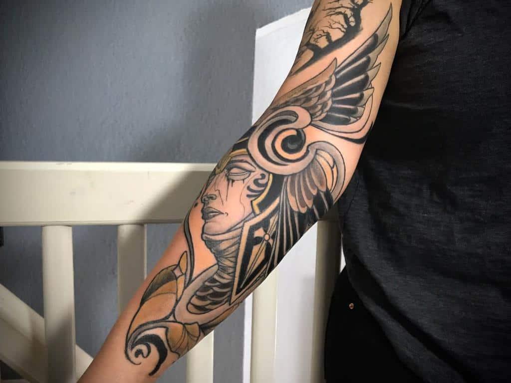 Art Nouveau Arm Sleeve Tattoo Tattoo Atelier Moabit