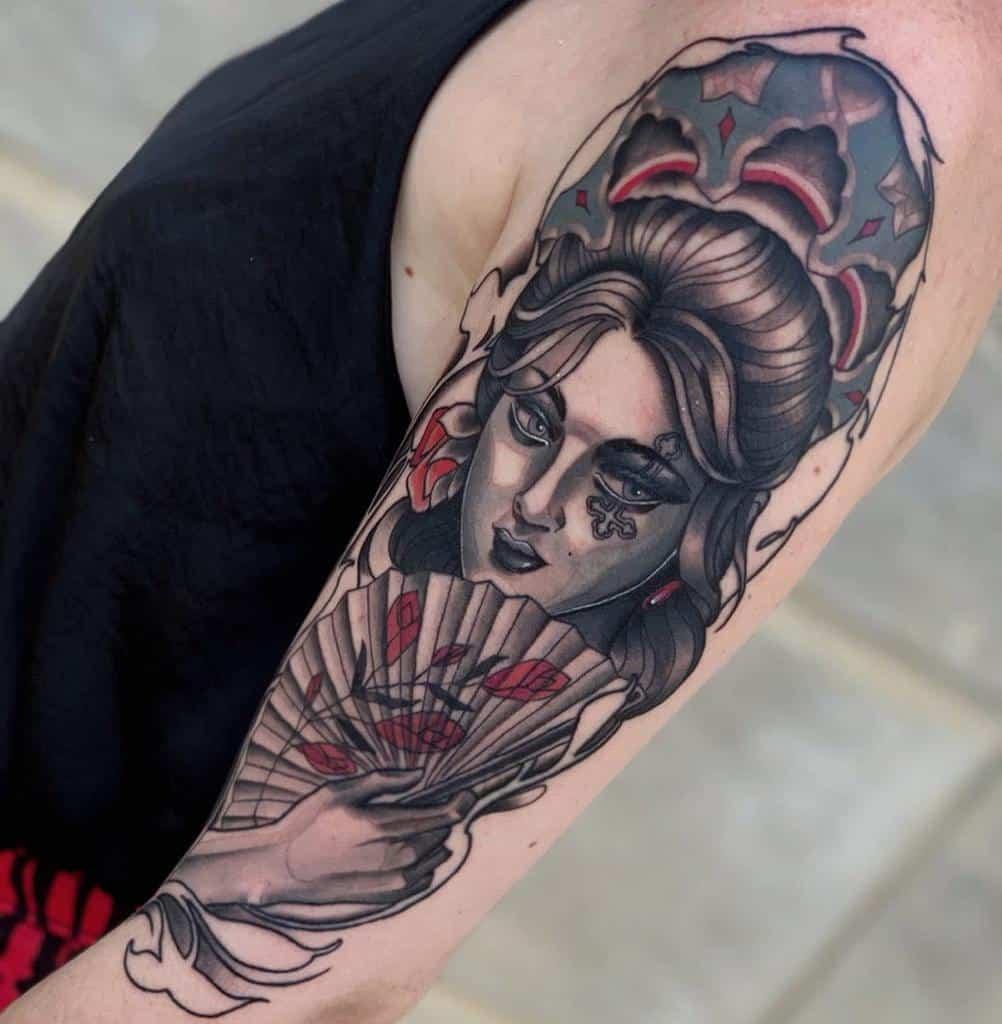 Art Nouveau Arm Sleeve Tattoo Victorsantiago Tattooer
