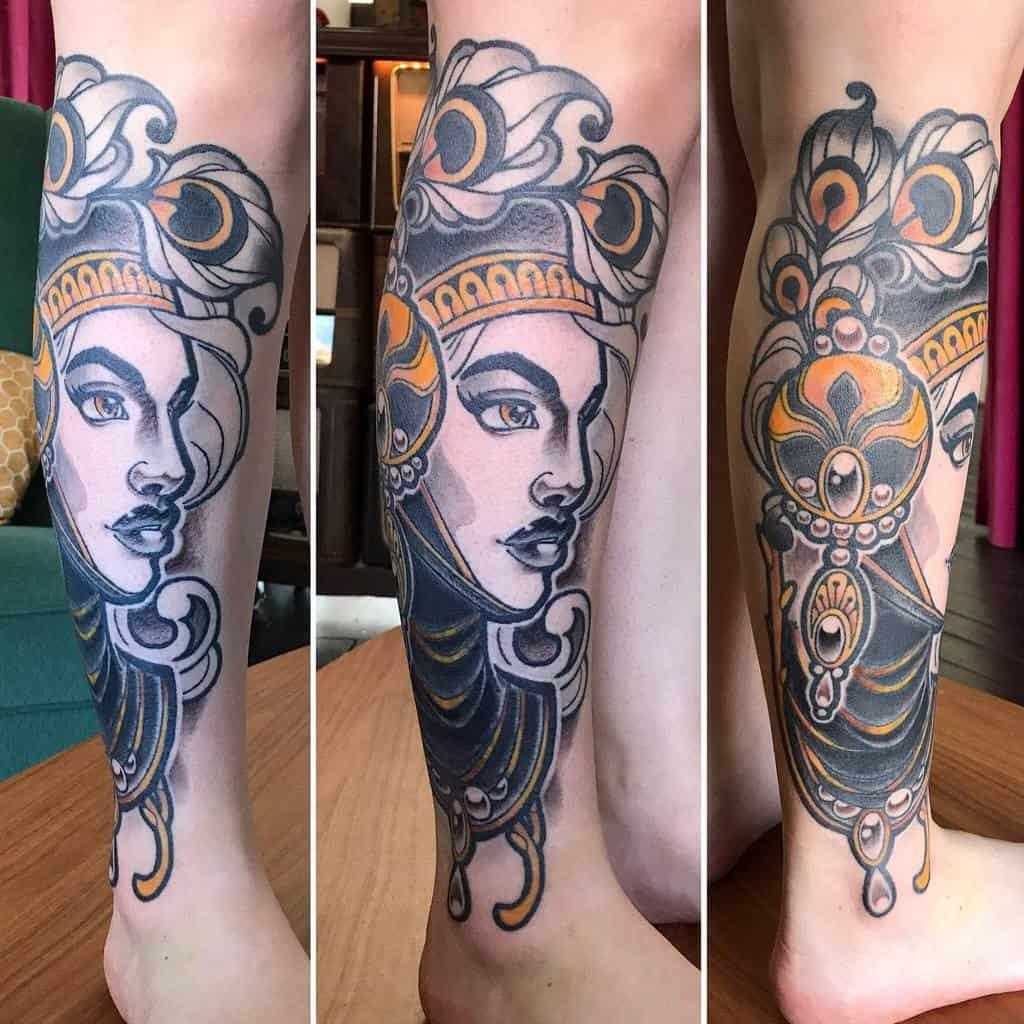Art Nouveau Leg Tattoo Tattoo.nina.noa