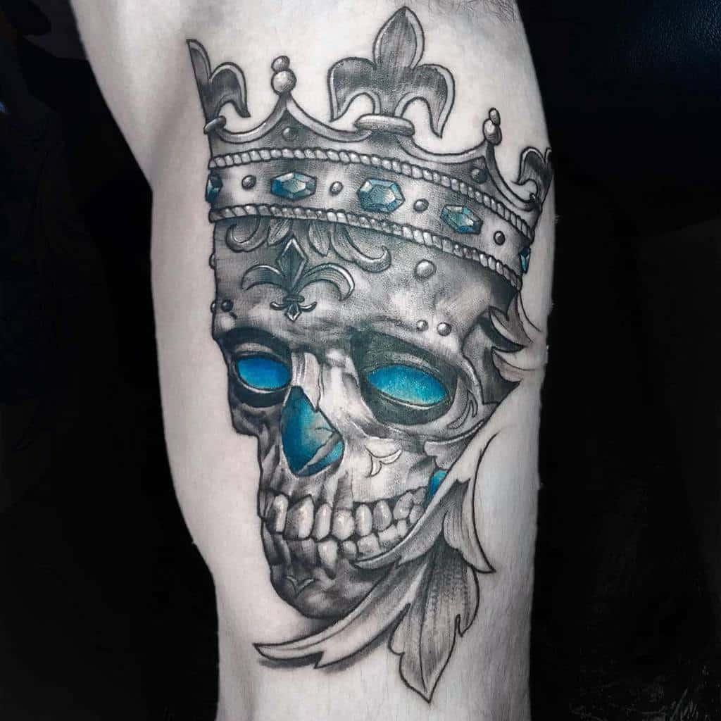 Art Nouveau Skull Tattoo Andreab Tattoo