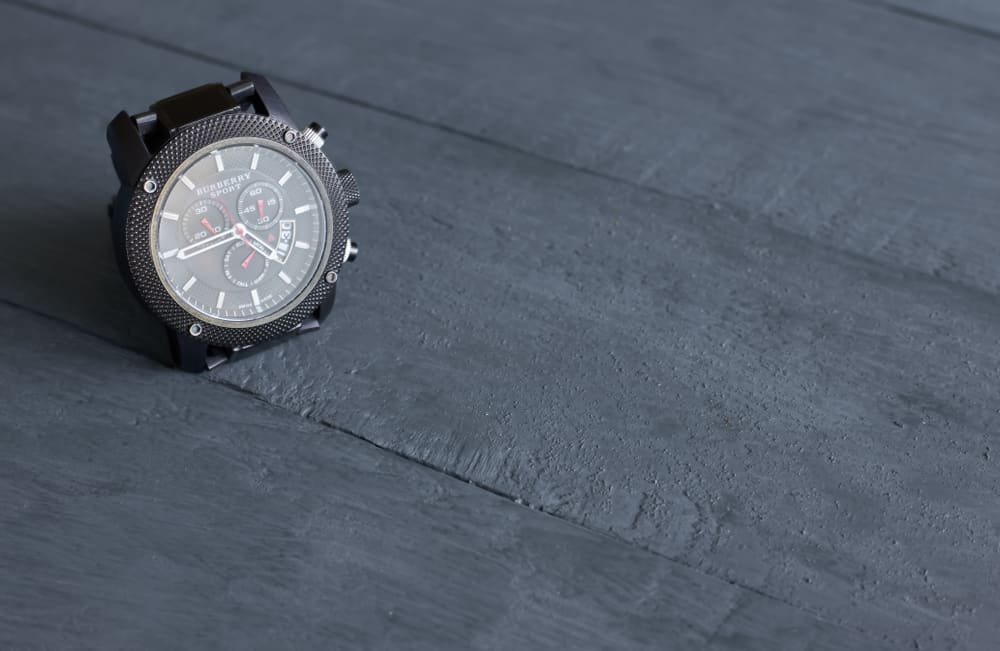 Burberry BU7716 chrono watch in sport gray.