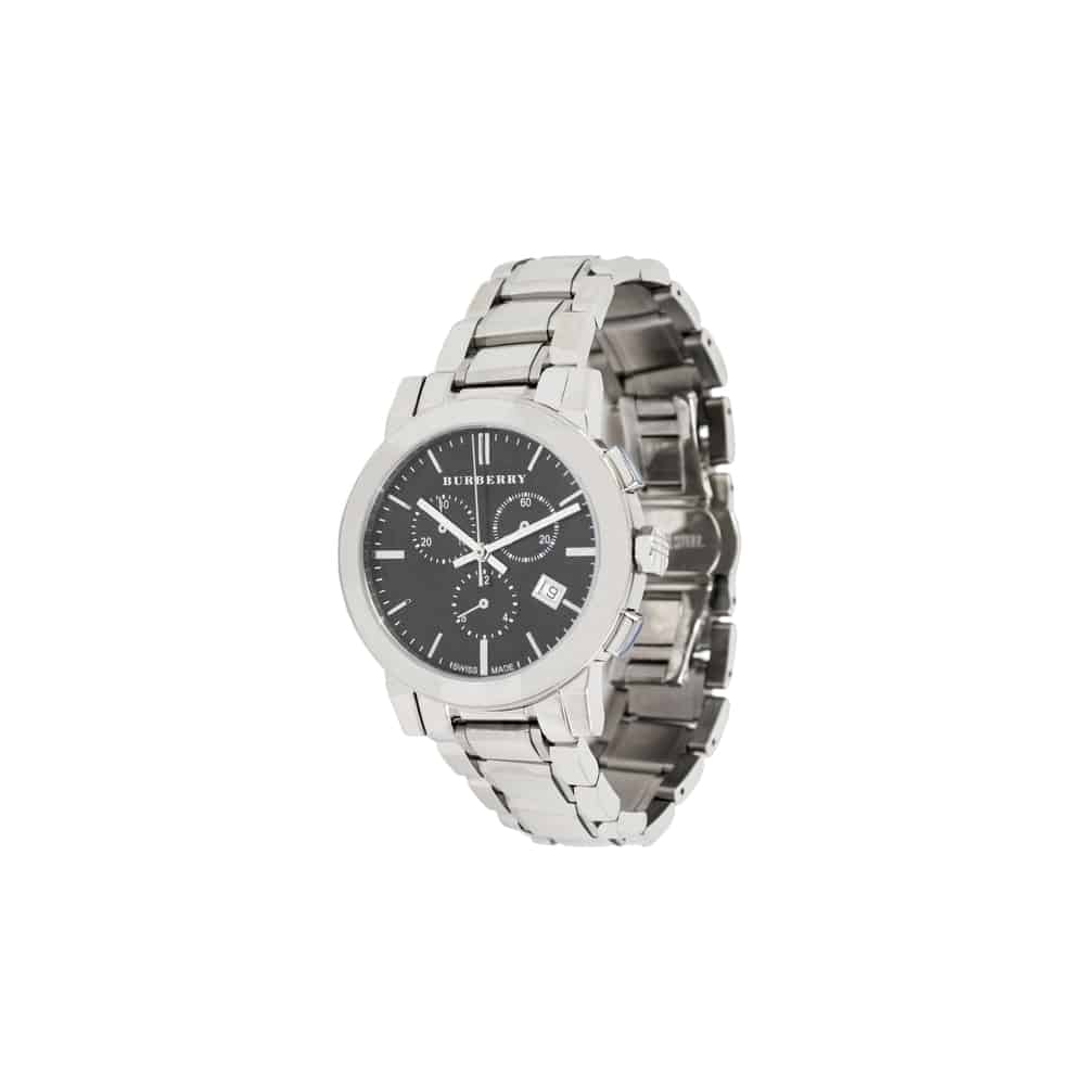 Burberry men's large check stainless steel watch, model BU9001