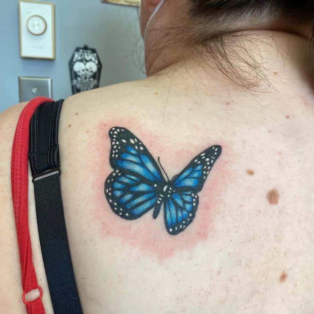 Back Blue Butterfly Tattoos studiomaxx.nl