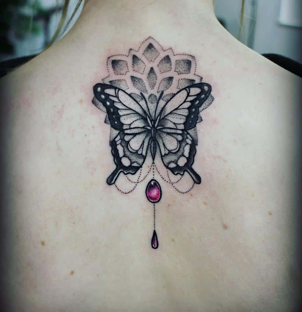 Back Butterfly Tattoo Meaning tarren_malham_artist