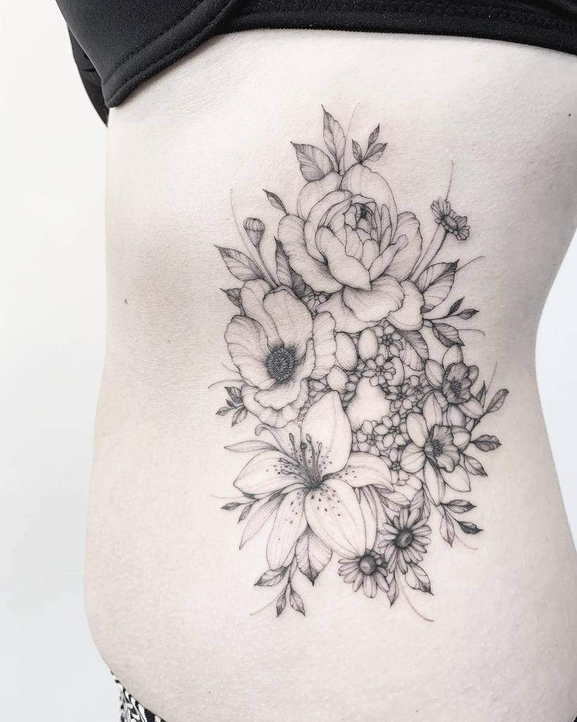 Back And Side Pieces Lily Tattoo Katy.hayward.art