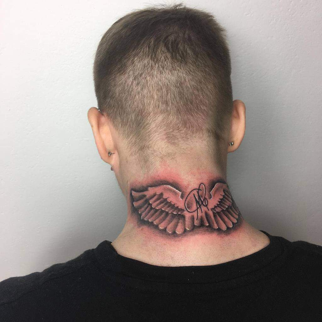 Back of Neck Tattoos for Male wlodzatattoo
