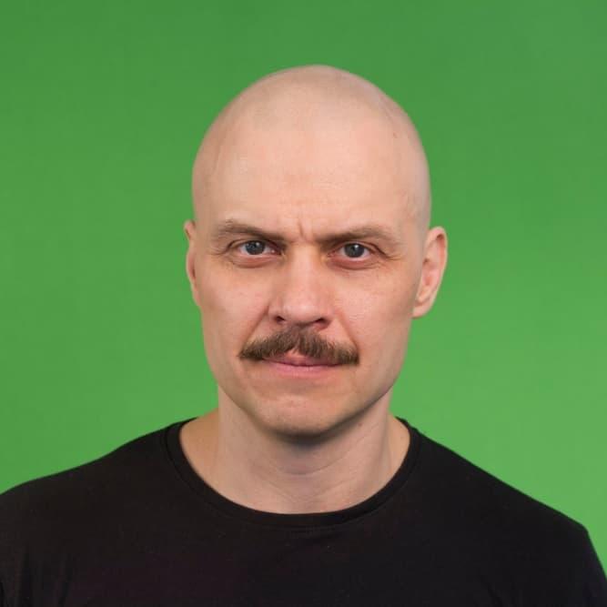 Bald Man With Moustache