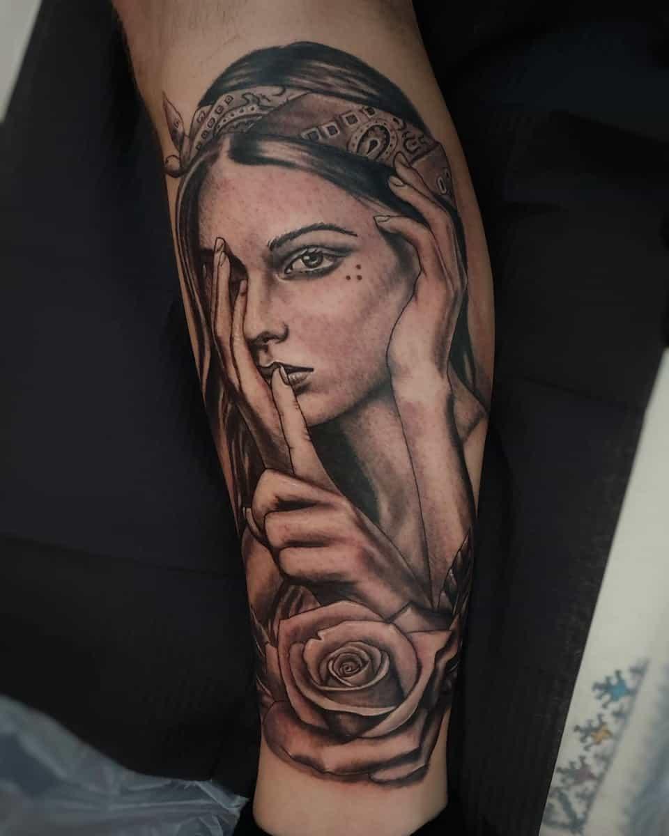 Bandana Pin Up Girl Tattoo -pakotattooclassic