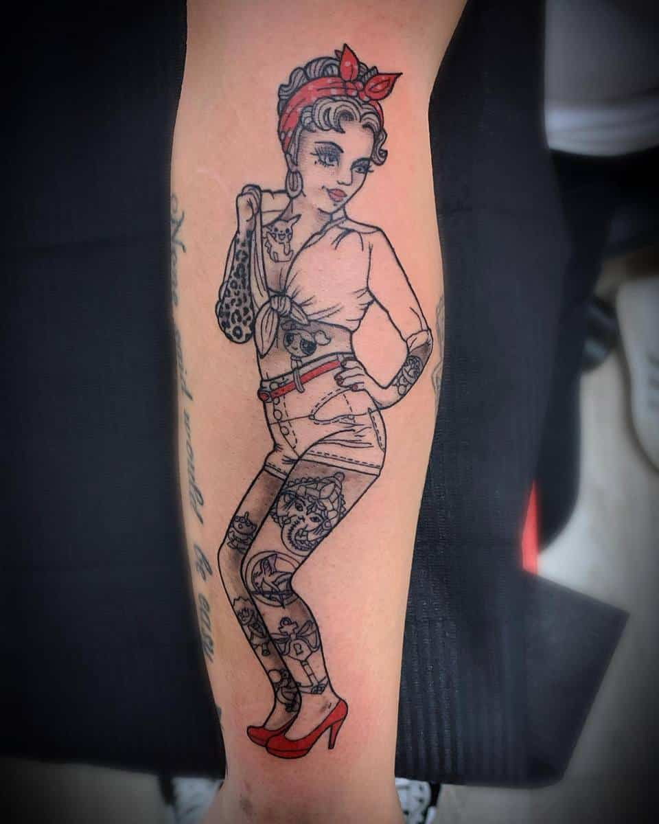 Bandana Pin Up Girl Tattoo -verochaplintattoo