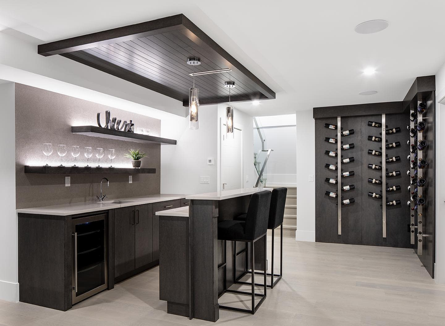 Modern Basement Kitchen Ideas -greenleafelectricalgroup